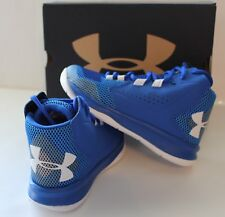 Under Armour Boys UA Torch Fade Basketball Shoes Blue 3020023-400 Size 12