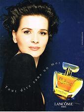 PUBLICITE ADVERTISING 094  1998  LANCOME parfum POEME JULIETTE BINOCHE