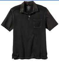 NWT $88 Tommy Bahama Kahuna Regular Fit Polo Shirt XL Black