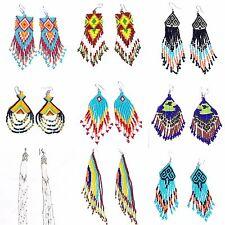 Handmade Long Women Beaded Chandelier New Design Trendy Fashion hook Earrings