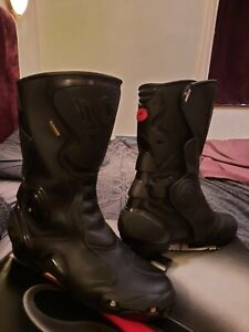 Sidi B2 Goretex Waterproof Black Size EU 47 UK 12 Motorcycle Boots.