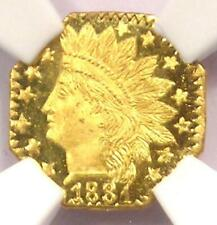 1881 Indian 25C California Gold Quarter Coin BG-799o - NGC MS67 DPL - Top Pop!