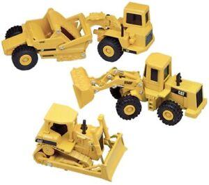 Cat Cadeau Set - 613C Scraper, 950F Roue Loader Et D6H Voie-Type Tractor 1:64