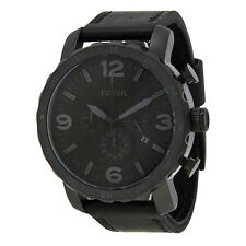 Fossil Nate Chronograph Black Ion-plated Mens Watch JR1354-AU