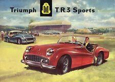 Catalogue TRIUMPH TR3 1958 Brochure publicitaire prospectus depliant