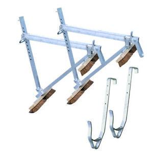 Set 2x Müba Dachdeckerstuhl Besengerüst mit 2x Dachhaken für Dachgerüst Dachbock
