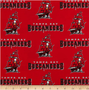 NFL Tampa Bay Buccaneers 6488-D Cotton Fabric by the Yard