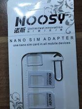 Noosy Micro Nano SIM Adapter Nadel Karten Set Samsung Apple HTC Sony für Alle