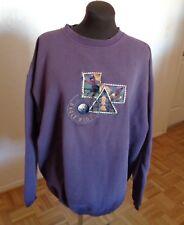 Women Cheyenne River Golf Sweather Applique Logo LS Cotton Blend Sz XL Purple