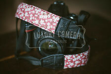 PINK/Flowers Cotton Camera Shoulder Neck Strap Vintage Belt for All DSLR