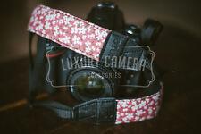 PINK/Flowers Cotton Camera Shoulder Neck Strap Vintage Belt for All DSLR