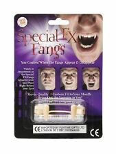 SPECIAL FX FANGS - Retractable Vampire Teeth Halloween FANCY PARTY Custom Fit