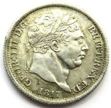 More details for 1817 george iii silver shilling coin - excellent condition gef