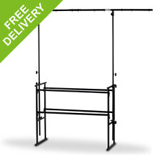 More details for 4ft dj deck stand heavy duty mobile all-in-one metal overhead lighting t-bar kit