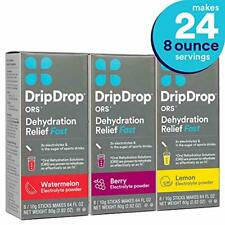 DripDrop Ors - Patented Electrolyte Powder for Dehydration Relief fast - For Hea