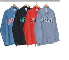 Supreme Stripe Denim Coach Jacket Size M Rare 1000% Authentic