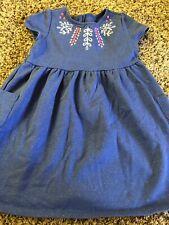 Gymboree Girls 4T Periwinkle Blue Sparkle Silver Thread Dress