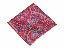 Lord R Colton Masterworks Pocket Square - St Ives Ruby Red Silk - $75 Retail New