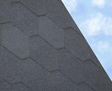 HEX Felt Roofing Shingles | Shed Felt Roof Shingles | BLACK THREE TAB 3M2/PACK