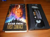 Star Trek: First Contact (VHS 1997) Patrick Stewart Used