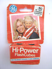 Vintage GE Hi-Power FlashCubes For Polaroid Flash Cameras Cubes NOS 2-pak in box