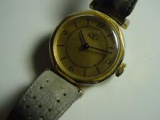 Alte Armbanduhr ANKER / AHS mit Lederarmband, Handaufzug, läuft.