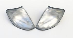 OEM Mercedes Benz W140 S Class Euro Clear Corner Lamp Set Magnetti Marelli NEW