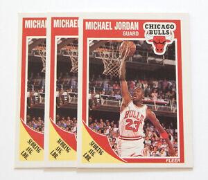 Lot of (3) 1989-90 Fleer Michael Jordan #21 Chicago Bulls