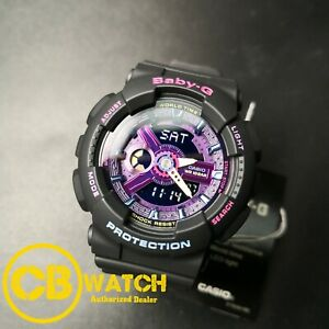 Casio G-Shock Baby-G BA-110TM-1A Ana-Digi Skeleton Multi-Color Dial Resin Watch