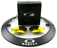 NEW OEM Oakley Fire Iridium Lenses For Quarter Jacket Sunglasses Factory 38