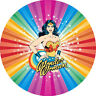 Wonder Woman 7 INCH EDIBLE CAKE & CUPCAKE TOPPERS/ party/ Birthday/ wafer /Icing