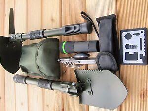 Prepper KLAPPSPATEN Zoom Taschenlampe Survival Armee Essbesteck Militär Tool BW