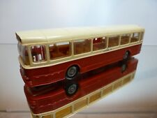 NOREV PLASTIC AUTOBUS SAVIEM SC10U - RED+ CREAM 1:43 - GOOD CONDITION