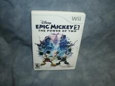 Disney Epic Mickey 2: The Power of Two (Nintendo Wii, 2012) [Complete & Tested]