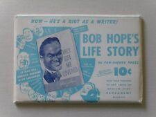 Bob Hope's Life Story in Original Envelope - Pepsodent Promo, 1st ed.,1941
