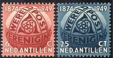 Netherlands Antilles 1949 Universal Postal Union/UPU/Posthorns/Globe 2v (n43325)