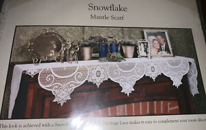 Heritage Lace Snowflake Mantle Scarf 19 X 90 Ecru New Made in USA Couch
