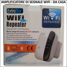 ANTENNA AMPLIFICATA SEGNALE WIRELESS 300 MBPS INTERNET REPEATER Wifi 2,4Ghz