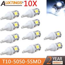 10X T10 5050 5SMD White LED Car Light Lamp Bulbs Super Bright DC12V Tail Light