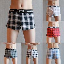 Men's Boxer Briefs Smooth Underwear Loose Trunks Home Shorts Underpants M-XXXL