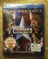 Captain America: Civil War (Blu-ray Disc, 2016) NEW; Marvel 100% Authentic