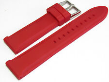 Hadley Roma MS3377 22mm RED Silicone Men's Diver Watch Band