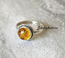 Citrine Ring 925 Sterling Silver Ring Handmade & Meditation Ring All Size mis653