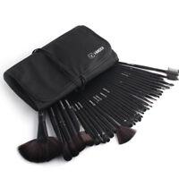32PCS Pro Make Up Brushes Set Kabuki Foundation Powder Brush+Pouch Case Black
