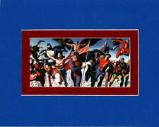 JUSTICE SOCIETY Of AMERICA PROFESSIONALLY MATTED PRINT Alex Ross art JSA