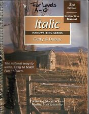 Italic Handwriting Series 3rd Edition Instruction Manual For Levels A-G