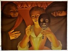 "GEORGE TOOKER Met Opera ORIGINAL PENCIL SIGNED LITHOGRAPH ""214/250"" MASK BALL"