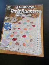 Year-Round Table Runners in Thread Crochet Leaflet Annie's Attic 874529