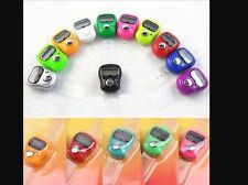 6xpc musulmano FINGER RING Hand Tally COUNTER DIGITALE tasbih
