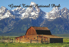 Grand Teton National Park, Barn, Wyoming, WY, 2 x 3 Souvenir Fridge Magnet WY005